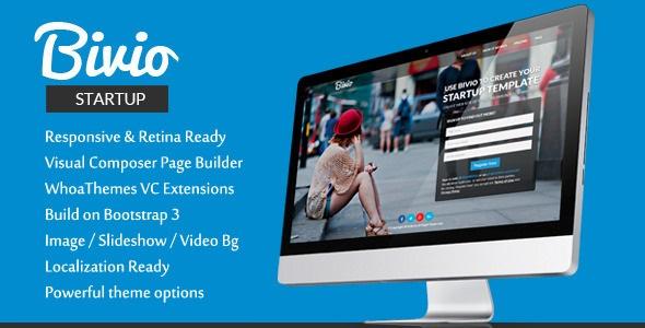 Bivio v1.3.1 – Bootstrap 3 App Landing Page WordPress - vestathemes ...