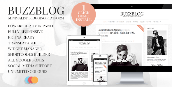 BuzzBlog v2.1 – Clean and Personal Blog WordPress Theme ...