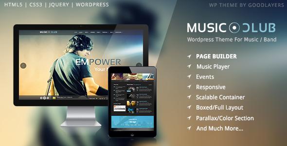 Music Club v1.06 – Music/Band/Club/Party WordPress Theme ...