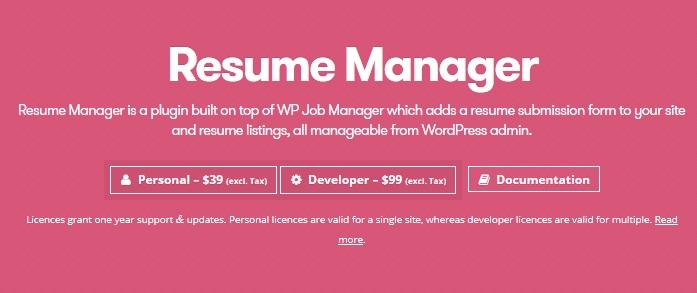 wp manager resume manager v1 11 3 vestathemes