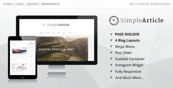 Simple Article v1.0.8 – Personal Blog WordPress Theme - vestathemes ...