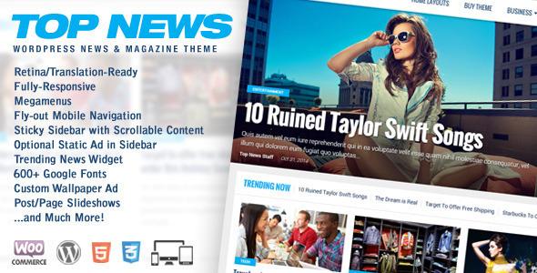 Top News v1.04 – WordPress News & Magazine Theme - vestathemes ...