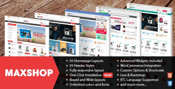 Maxshop v2.0.2 – Responsive WordPress WooCommerce Theme ...