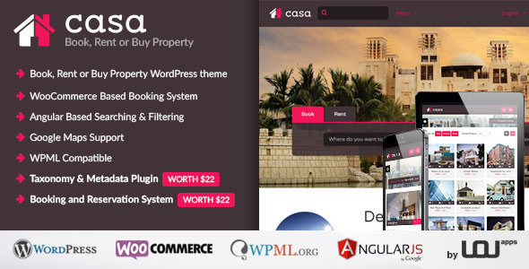 Casa – Book, Rent or Buy Property WordPress Theme - vestathemes ...