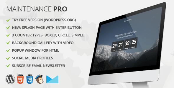 Maintenance PRO v3.4 - WordPress Under Construction Plugin ...