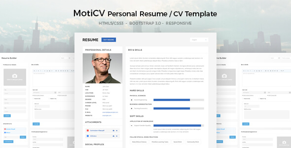 moticv  u2013 responsive resume    cv html5 template - vestathemes