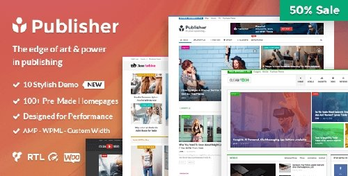Publisher v1.8.3 – Magazine, Blog, Newspaper and Review