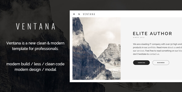 ventana responsive simple user interface html template vestathemes download free premium. Black Bedroom Furniture Sets. Home Design Ideas