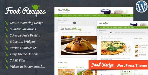 Food recipes v30 responsive chefs cooking wordpress theme download free food recipes wordpress theme v30 forumfinder Choice Image
