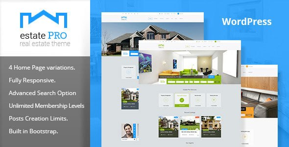 Estate Pro v1.2.1 – Responsive Real Estate WordPress Theme ...