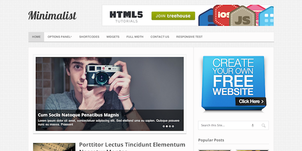 Minimalist v1.2.10 – Clean & Minimal WordPress Blog Theme ...