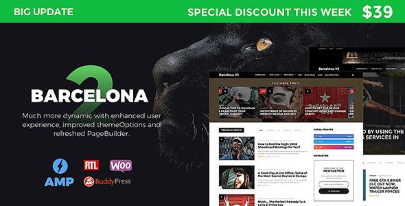 Barcelona. v2.0 – Clean News & Magazine WordPress Theme ...