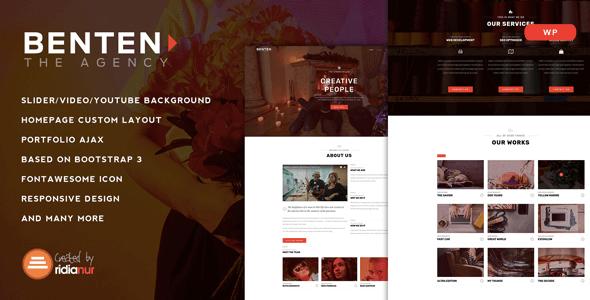 Benten v1.0 – Responsive One Page WordPress Portfolio Theme ...
