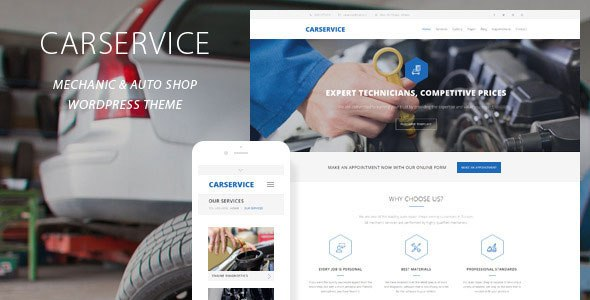 Auto Car Repair Mechanic Shop Responsive Theme Nulled