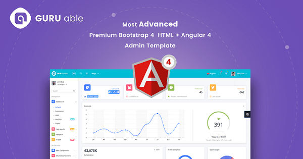 Guru able bs 4 angular 4 dashboard vestathemes download free guru able v10 is made using latest bootstrap 4 beta framework and its fully feature rich admin template angular 4 is also comes with pure type script pronofoot35fo Gallery