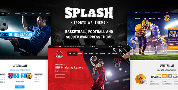 Splash v3.5.2 - Sport WordPress Theme for Football, Soccer ...