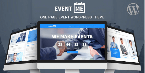 EventMe v2.5.8 – Corporate Event Landing WordPress Theme ...