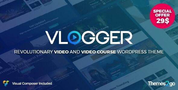 Vlogger v1.5.2 – Professional Video & Tutorials WordPress Theme ...